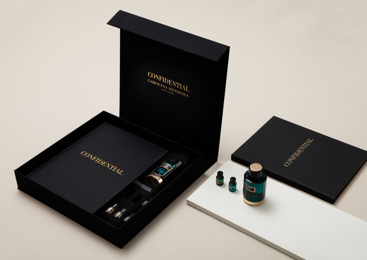 Herrera confidential by folch for Press kit design