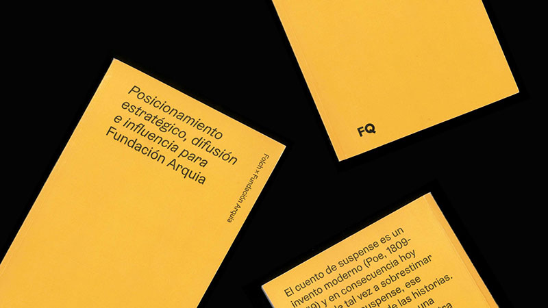 Transmedia consultancy for Fundación Arquia by Folch