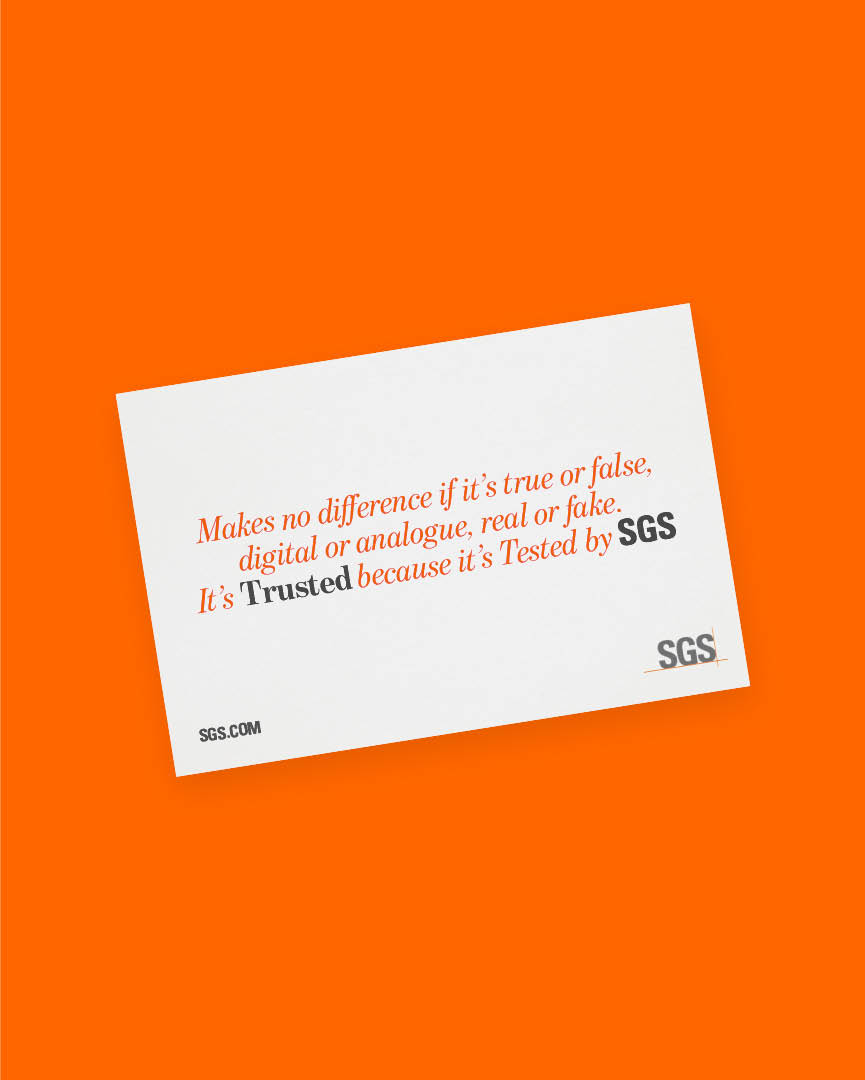 Tested. A global campaign for SGS |FOLCH